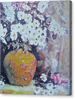 Abundance Of Daisies Canvas Print by Richard James Digance