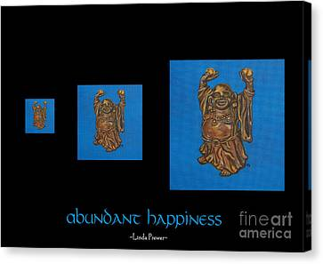 Canvas Print featuring the painting Abundant Happiness by Linda Prewer