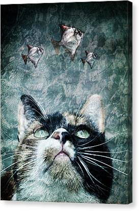 Abyss Cat Nr 2 Canvas Print