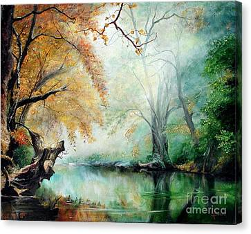 Canvas Print featuring the painting Abyss by Sorin Apostolescu
