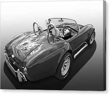 Ac Cobra 1966 In Black And White Canvas Print by Gill Billington