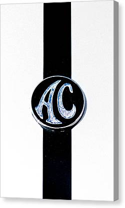 Ac Cobra Badge Canvas Print by Phil 'motography' Clark