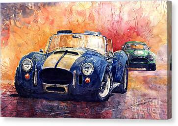 Ac Cobra Shelby 427 Canvas Print by Yuriy  Shevchuk