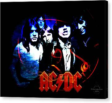 Ac/dc  Canvas Print by Absinthe Art By Michelle LeAnn Scott