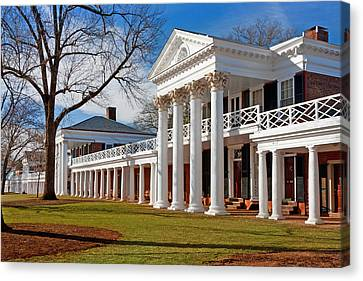 Academical Village At The University Of Virginia Canvas Print by Melinda Fawver