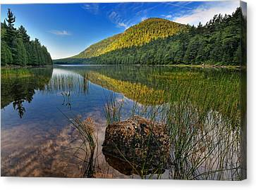 Acadia National Park-bubbles Pond Canvas Print by Thomas Schoeller