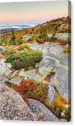Acadia National Park Photograph - Cadillac Mountain Landscape Canvas Print