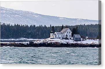 Acadia National Park Schoodic Lighthouse Canvas Print by Trace Kittrell