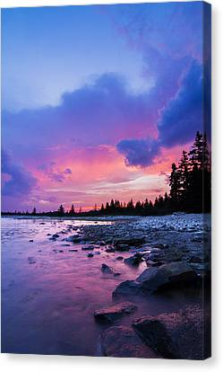 Acadia National Park Sunset Canvas Print by Mircea Costina Photography