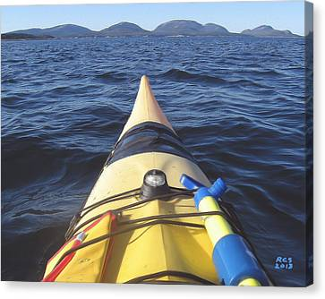 Acadia Sea Kayaking Canvas Print by Richard Stevens