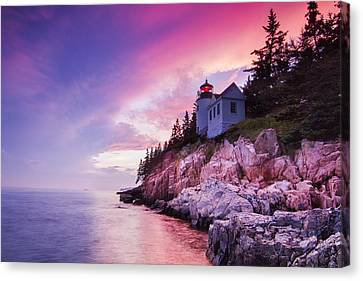 Acadia Sunset Canvas Print by Mircea Costina Photography