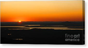 Maine Mountains Canvas Print - Acadia Sunset by Olivier Le Queinec
