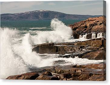 Acadia Waves 4198 Canvas Print by Brent L Ander