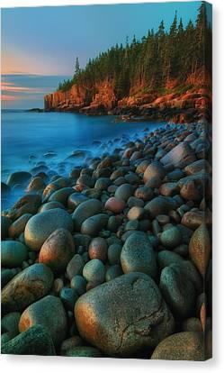 Acadian Dawn - Otter Cliffs Canvas Print by Thomas Schoeller