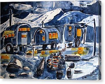 Acampada Canvas Print by Charlie Spear