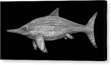 Acamptonectes Marine Dinosaur Canvas Print by Nemo Ramjet
