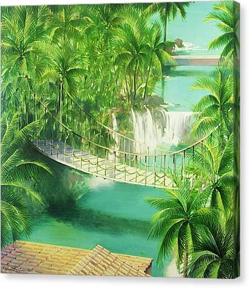 Ocean Inlet Canvas Print - Acapulco by Andrew Hewkin