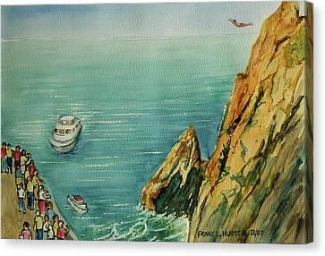 Acapulco Cliff Diver Canvas Print