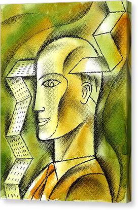 Accaunting  Canvas Print by Leon Zernitsky