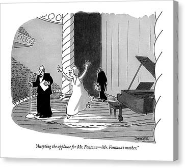 Accepting The Applause For Mr. Fontana - Mr Canvas Print