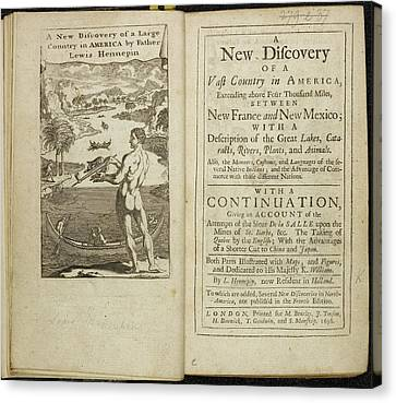 Account Of Discovery In America Canvas Print by British Library