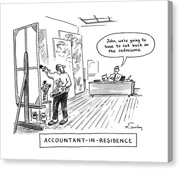 Accountant-in-residence:  John Canvas Print by Mike Twohy