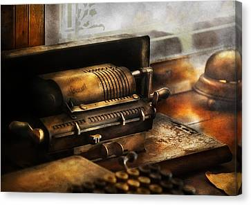 Accountant - The Adding Machine Canvas Print by Mike Savad