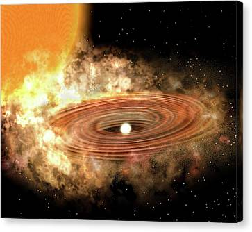 Accretion Disk Around Binary Star System Canvas Print by P. Marenfeld And Noao/aura/nsf