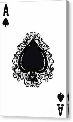 Ace Of Spade Canvas Print by Wingsdomain Art and Photography