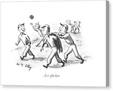 Ace Pitcher Canvas Print by William Steig