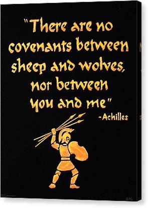 Achilles Admonition Canvas Print