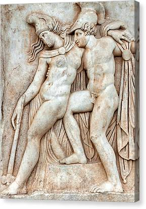 Aphrodisias Canvas Print - Achilles And Penthesilea by Ayhan Altun