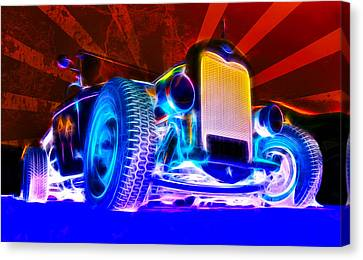 Acid Ford Hot Rod Canvas Print by Phil 'motography' Clark