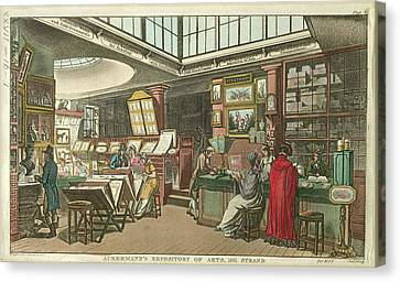 Ackermann's Repository Of Arts Canvas Print by British Library