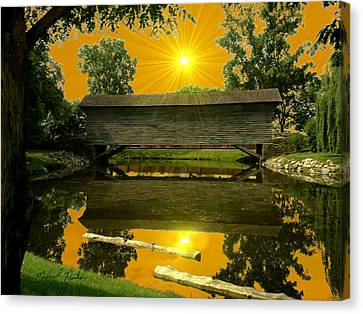 Ackley Covered Bridge Canvas Print