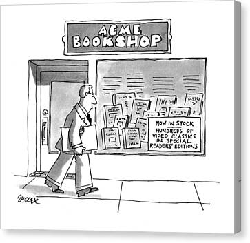 Acme Bookshop Canvas Print