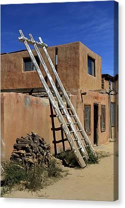 Acoma Pueblo Adobe Homes 3 Canvas Print by Mike McGlothlen