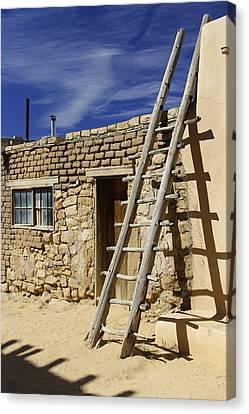Pueblo Canvas Print - Acoma Pueblo Adobe Homes 4 by Mike McGlothlen