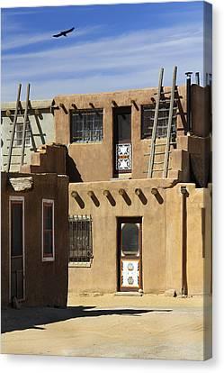Acoma Pueblo Adobe Homes Canvas Print by Mike McGlothlen
