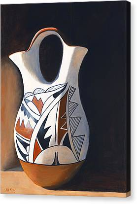 Acoma Wedding Vase Canvas Print by Jack Atkins