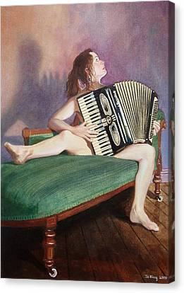 Acordeonista Canvas Print by Jo King