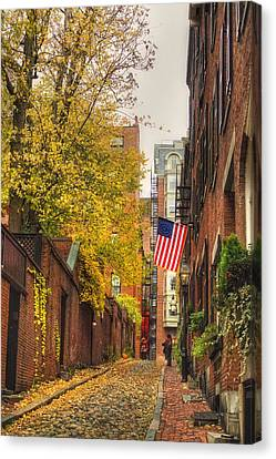 Acorn Street - Boston Canvas Print