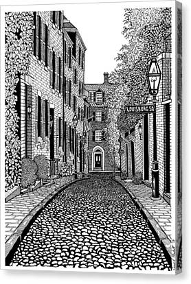 Acorn Street Louisburg Square Canvas Print by Conor Plunkett