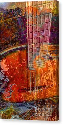 Acoustic Dreams Digital Guitar Art By Steven Langston Canvas Print by Steven Lebron Langston