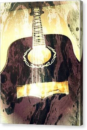 Acoustic Guitar - In The Studio Canvas Print