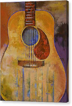 Acoustic Guitar Canvas Print by Michael Creese