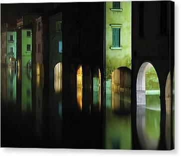 Acqua Alta Canvas Print by Mattia Oselladore
