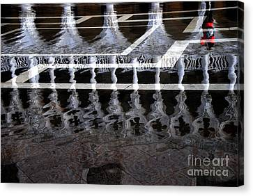Acqua Alta Swirling Reflections  Canvas Print by Jacqueline M Lewis