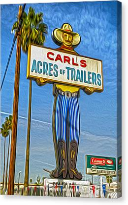 Acres Of Trailers 2 Canvas Print by Gregory Dyer