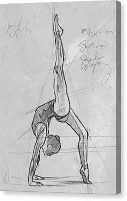 Acrobat Study Canvas Print by H James Hoff